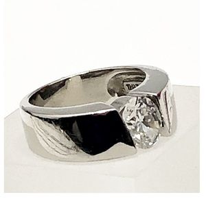 Vintage sterling silver cubic zirconia ring 6